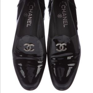 Chanel patent leather loafers. Worn once!